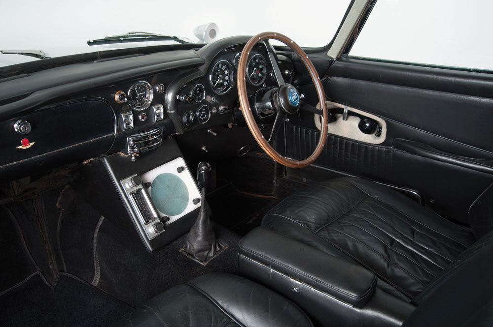 Aston Martin classic silver birch DB5 interior - Ph Courtesy of allastonmartin.com and Byron International