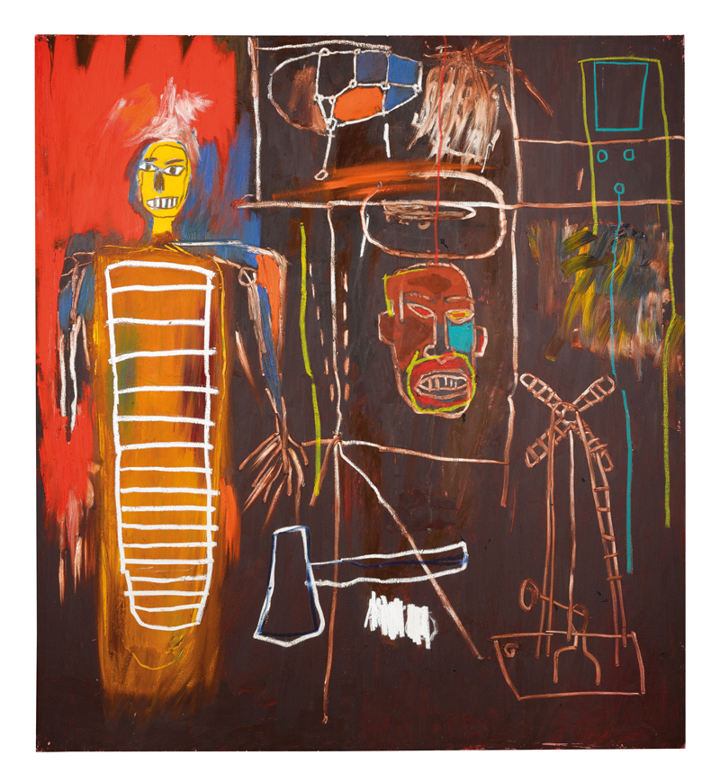 Acrylic and oilstick on canvas by Jean-Michel Basquiat (1960-1988)