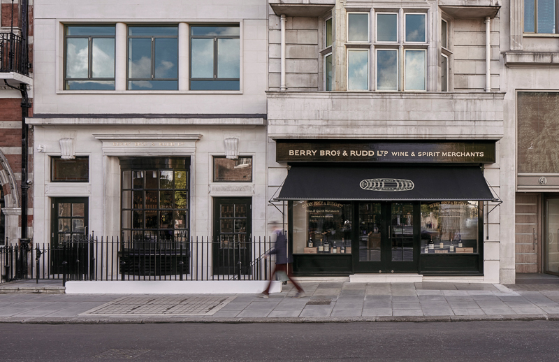 The Pall Mall entrance to Berry Bros' state-of-the-art retail space - Ph: Berry Bros & Rudd