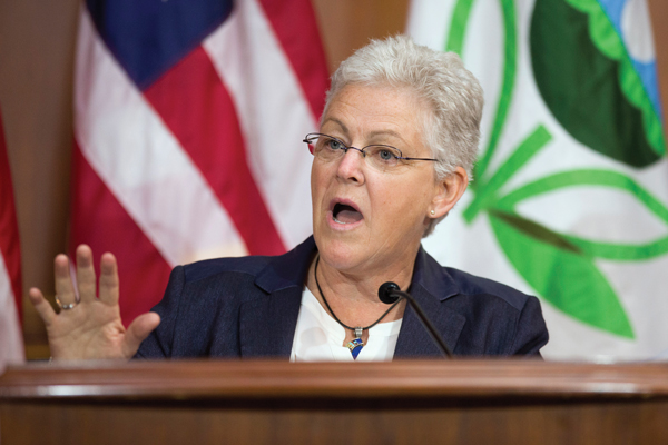 Gina McCarthy, administrator of the US Environmental Protection Agency, which plans to slash CO2 emissions from power plants 30% by 2030