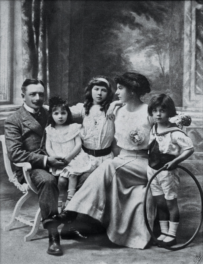 The photo that started it all: The Lugan d'Alban family in their ancestral home, Lot et Garonne, France, shortly after World War I, in 1914-1918