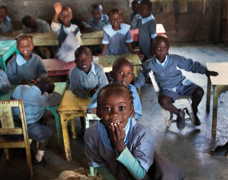Low-cost school in Lagos, Nigeria, a city where some affordable schools have been operating for a decade or more