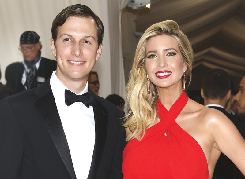 Jared Kushner, left, and Ivanka Trump