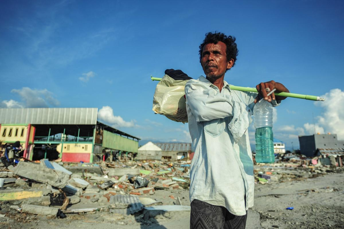 Palu Indonesia, after the earthquake and tsunami - Ph: PA