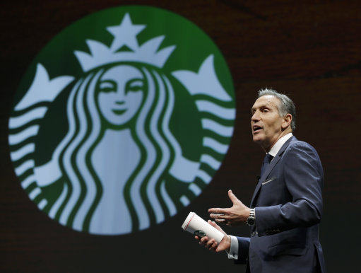 Starbucks chief executive Howard Schultz - Ph: Press Association