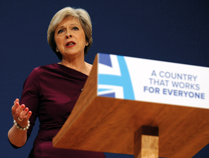 Theresa May, the UK's Conservative prime minister