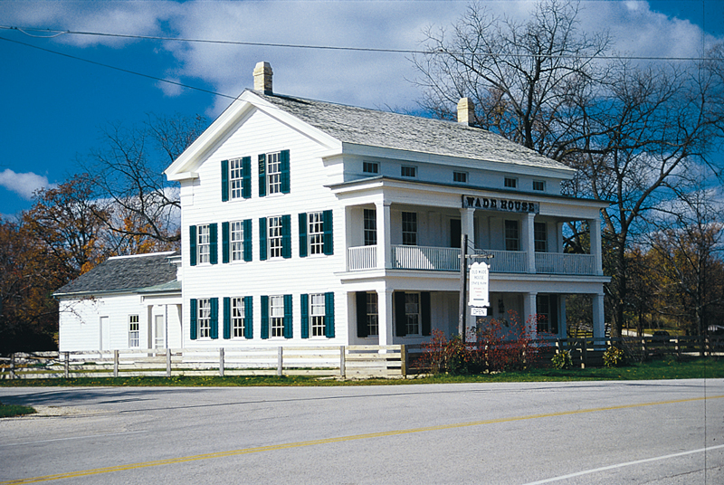 Wade House Historic Site was restored by Kohler Foundation in 1950-53 then turned over to the State as a State Park