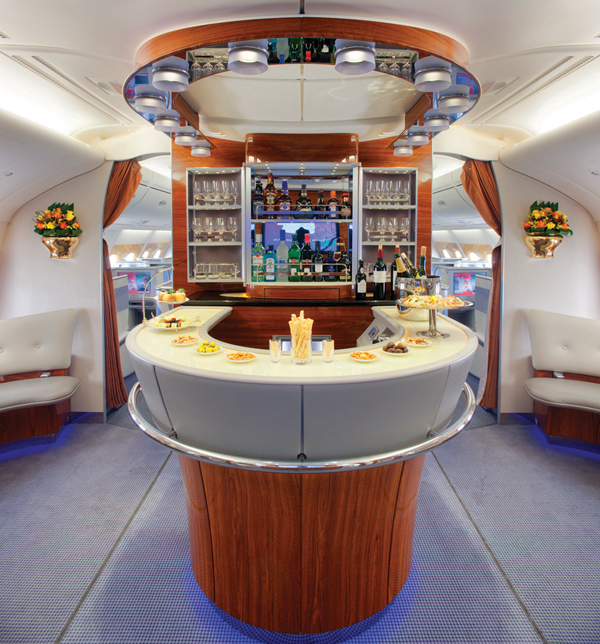 Emirates First Business Class Onboard Lounge