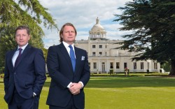 Hertford and Chester King in front of International Group's Stoke Park