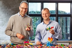 Jørgen Vig Knudstorp and Thomas Kirk Kristiansen, of the Lego Group