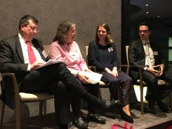 Family business experts (pictured from left) John Lelliott, of The Crown Estate; Dr Louise Scholes, of Loughborough University; Maria Villax, lawyer and next-gen turned Senior Associate at PwC's Private Client team; and Stephen Foster, of TY Danjuma Family Office