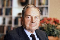 David Rockefeller pictured in 1981.