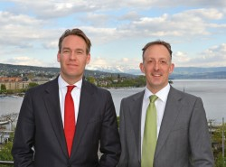 Jan van Bueren (left) and Thomas Ming of UBP's FOSS Family Office Services Switzerland