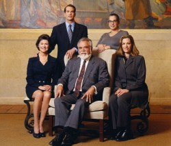 Plumbing new depths: The Kohler clan (from left) Natalie Black Kohler, David Kohler, Herbert Kohler Junior, Rachel Kohler and Laura Kohler