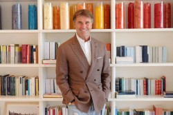 Brunello Cucinelli in his Solomeo office