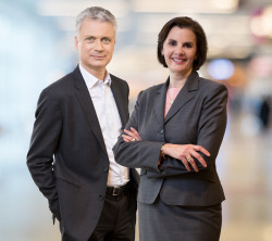 Vincent Lecomte and Sofia Merlo, co-chief executives of new partner BNP Paribas Wealth Management