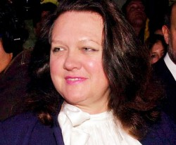 Gina Rinehart, Australia's richest person, has entered into an acquisition agreement with GVK Reddy's family business
