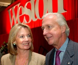 Family business head Galen Weston and his wife