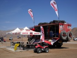 Henkel's Loctite will attend the Dakar Rally 2012.