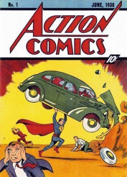 The first issue of Action Comics features Superman's debut