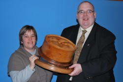 Iain and his wife Marie at the scotch pie awards