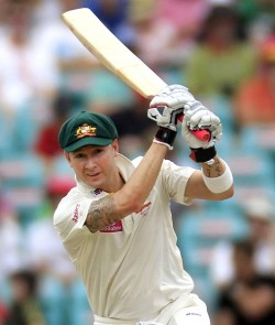 Michael Clarke's bats will soon be supplied by family business Spartan Sports ©PA