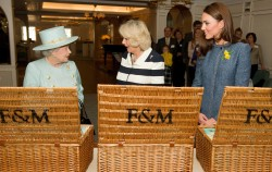 The Queen, the Duchess of Cornwall and Kate Middleton received some hampers from family business Fortnum & Mason ©Press Association
