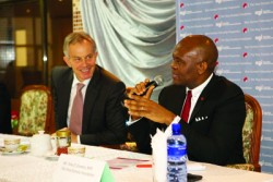 Tony Elumelu has teamed up with Tony Blair's foundation