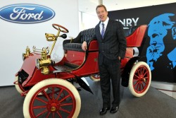 Bill Ford, the great-grandson of Henry Ford, with the 1903 Model A.