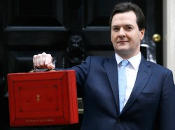 George Osborne with the latest UK budget