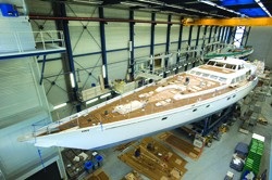 Superyacht Juliette under construction at Royal Huisman