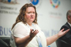 Stepping down: Gina Rinehart