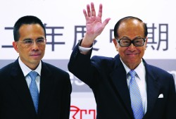 Li Ka-shing and his son Victor of Hutchinson Whampoa