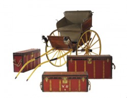 Tilbury accompanied by a set of trunks, by Vuitton and V. Morel