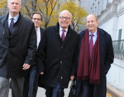 Murdoch outside New York's State Supreme Court in November, following his divorce from Wendi Deng