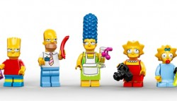 The iconic Simpsons characters in Lego form