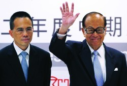 Li Ka-shing with his son Victor