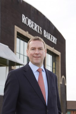 Robert Higginson outside the headquarters of Frank Roberts and Sons in Cheshire, UK