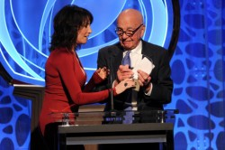 Rupert Murdoch on stage at the 2014 Television Academy Hall of Fame