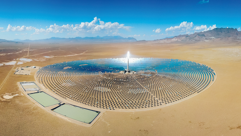 "Forget ""clean coal"", the future belongs to green tech, such as the Ivanpah Solar Electric Generating System, spread across 13 sq km of desert near the California-Nevada border"